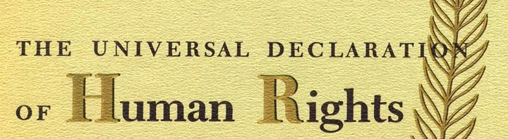 Universal declaration on human rights
